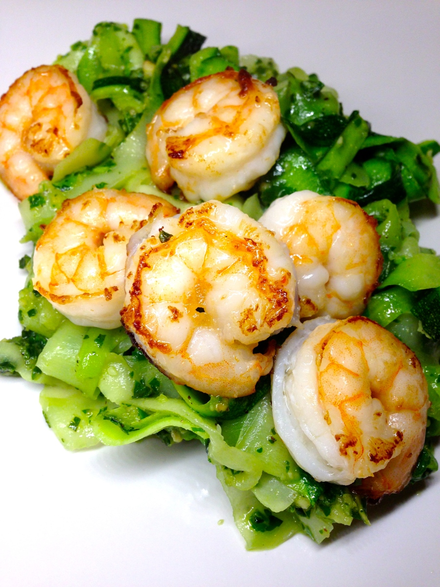 Pesto Zinguine & Shrimp