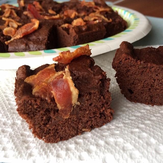 Bacon Coffee Brownies